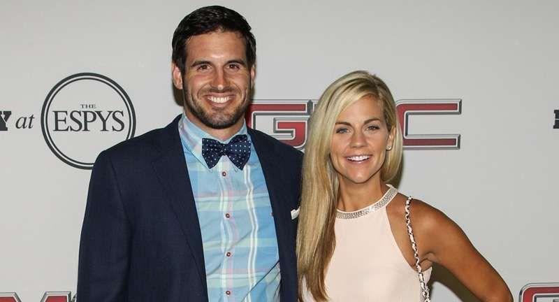 ESPNs sportskaster Samantha Ponder er fornøyd med Christian, hennes fotballspiller